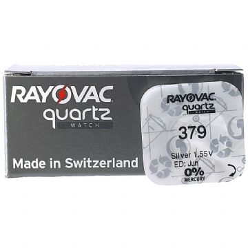 Rayovac 379 SR521SW 1.5V Silver Oxide Watch Battery